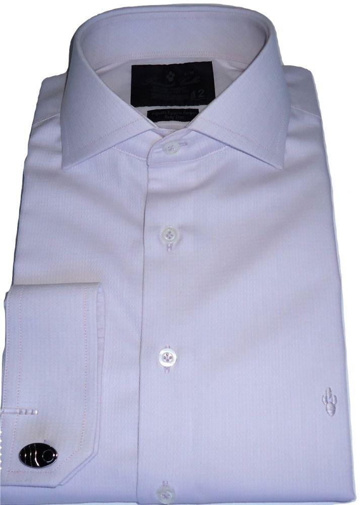 Camisa Lilás de Abotoadura Maquinetada Fio 80 Egípcio