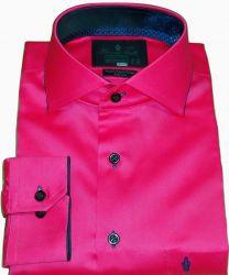 Camisa Social Rosa Pink Lisa Gola Italiana Algodão Egípcio Fio 80