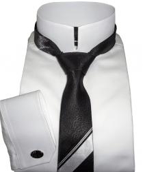 Camisa para Smoking Branca no Colarinho Britânico Imperial Algodão Egípcio Fio 80